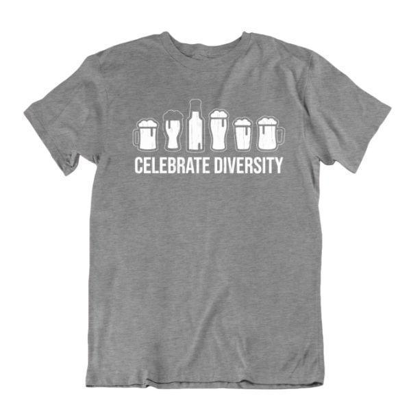 Daily Steals-Celebrate Diversity Beer Funny Drinking T-Shirt-Men's Apparel-Sports Grey-Small-