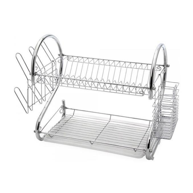 Two-Tier Stainless-Steel Dish Rack - Two Sizes-Daily Steals