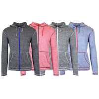 update alt-text with template Daily Steals-Men's Lightweight Moisture Wicking Performance Active Hoodie - 4 Pack-Men's Apparel-Small-