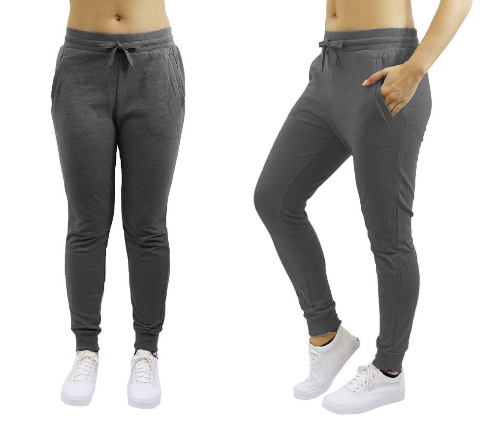 Women's Slim-Fit French Terry Jogger Sweatpants-Charcoal-Large-Daily Steals
