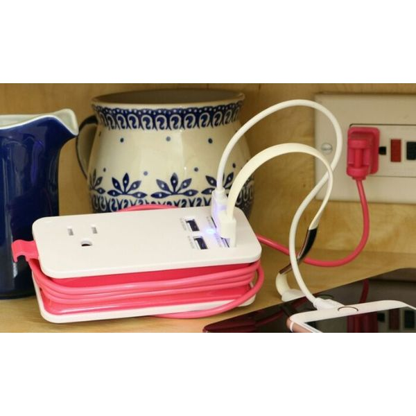 4 Port USB and Single AC Outlet Charging Station - 2 Pack-Daily Steals