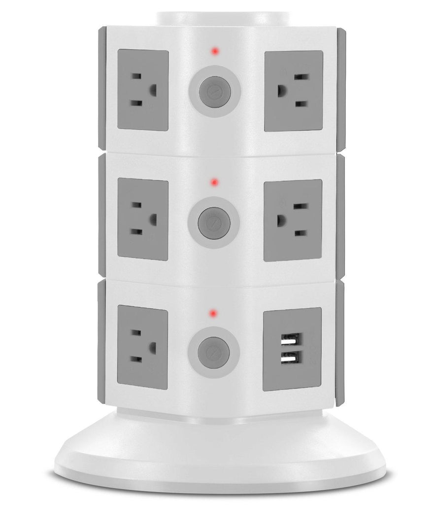 Daily Steals-Aduro Surge Power Tower Charging Station-Home and Office Essentials-White-