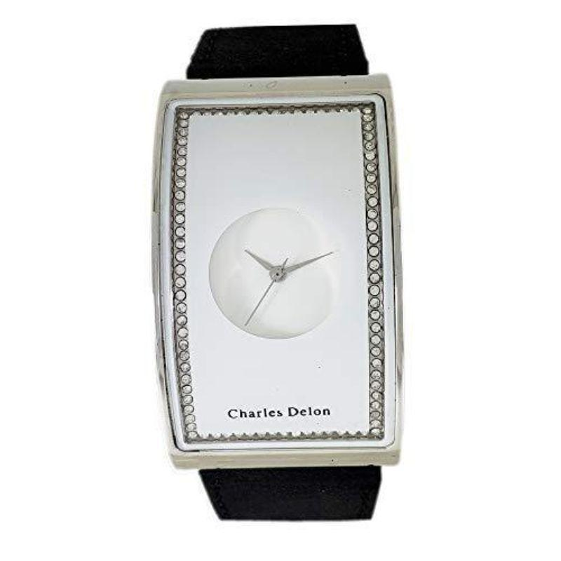 Charles Delon CDNY Women's Watches 4638 LPWB Black Silver White Leather Quartz Other-