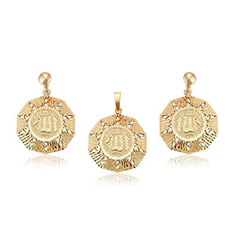 Charles Delon Lucky Gold Pendant and Earrings Set for Women-Daily Steals