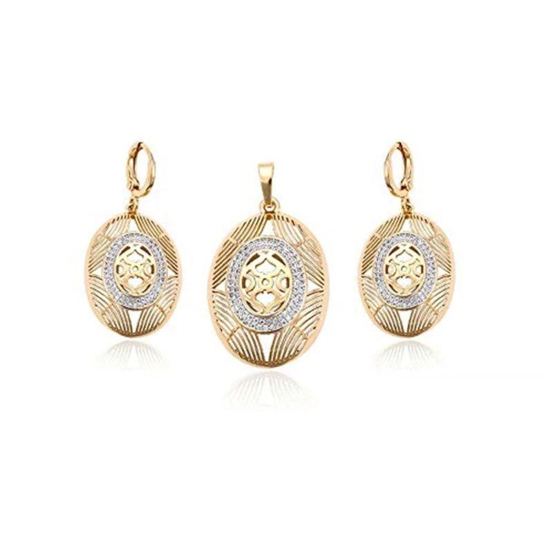 Charles Delon New Egg Pendant and Matching Earrings Set for Women-