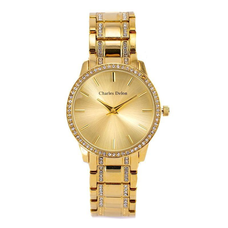 Charles Delon Women's Watch 5855 LGCW Gold Stainless Steel Quartz Round-