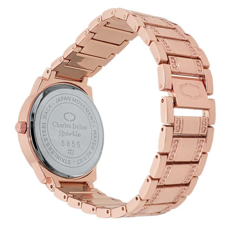 Charles Delon Women's Watch 5855 LRRW Rose Gold Stainless Steel Quartz Round-