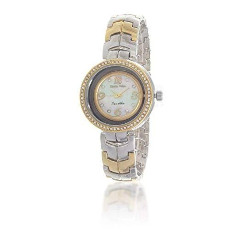 Charles Delon Women's Watches 5654 LTMW Silver/Gold Mother of Pearl Stainless Steel-