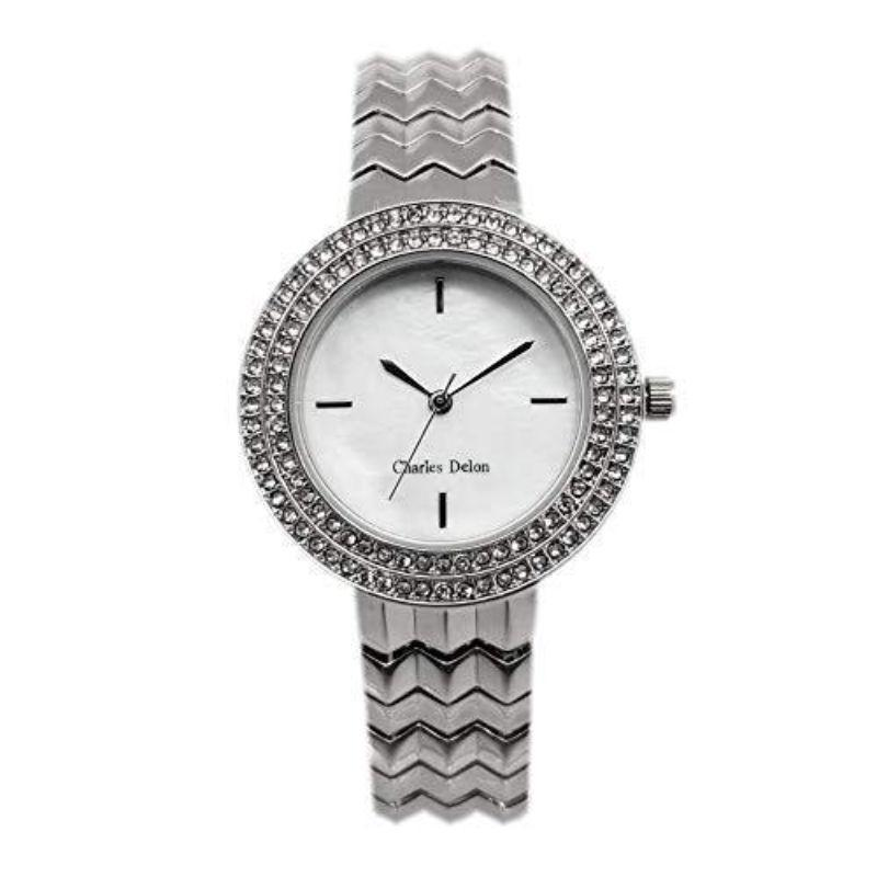 Charles Delon Women's Watches 5772 LIMW Silver and White Stainless Steel Quartz-