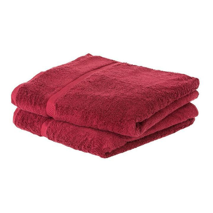 update alt-text with template Daily Steals-Super Soft Absorbent Solid Color Bath Towels - 2 Pack-Home and Office Essentials-Burgundy-
