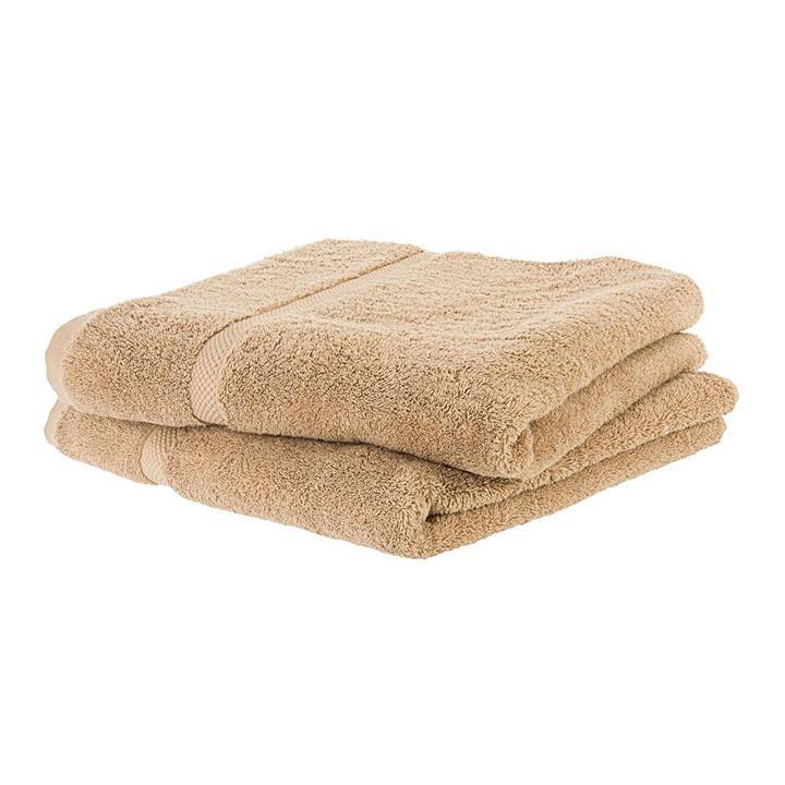 update alt-text with template Daily Steals-Super Soft Absorbent Solid Color Bath Towels - 2 Pack-Home and Office Essentials-Taupe-