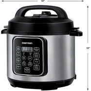 Chefman 6 Quart Electric Multicooker, Makes Meals in Minutes, 14 Presets-