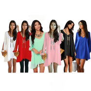 Chiffon Tunic with Slit Sleeves-Daily Steals