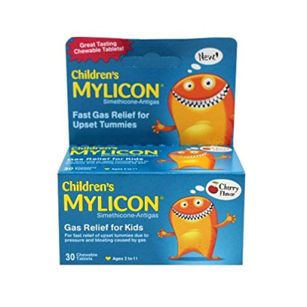 Mylicon Children's Fast Gas Relief, Cherry, 30 Chewable Tablets - 2 Pack-Daily Steals