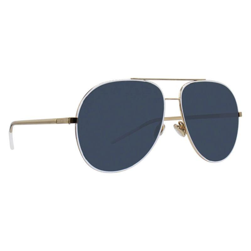 Christian Dior Women's Astrals 59mm White and Gold Frame Sunglasses-