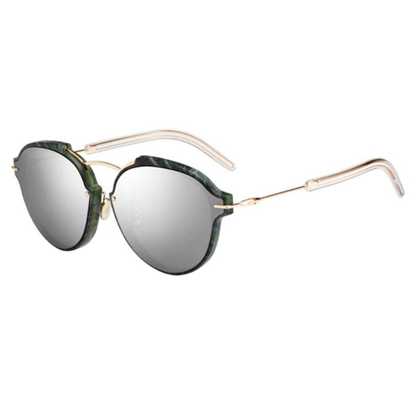 Christian Dior Women's Eclats 60mm Green Marble and Gold Frame Sunglasses-