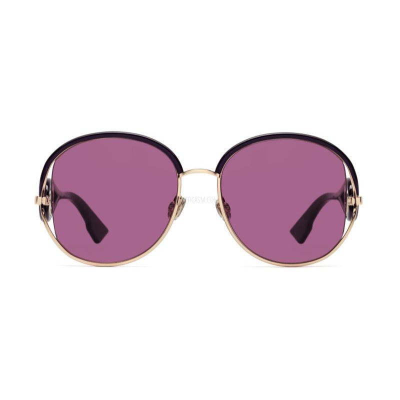 Christian Dior Women's New Volutes 0S9E-VC 57/18/145 Gold Purple Frame Sunglasses-