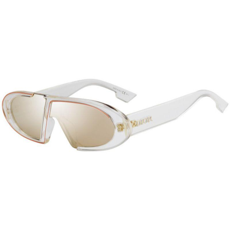 Christian Dior Women's Obliques 900-SQ 64mm Crystal Frame Sunglasses-