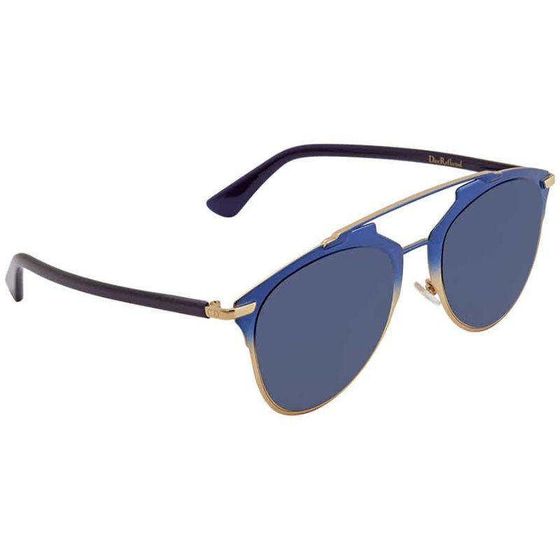 Christian Dior Women's Reflected 0TVW-521I 65/21/140 Gold Blue Frame Sunglasses-