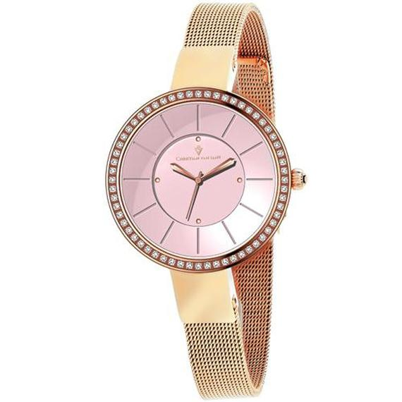 Daily Steals-Christian Van Sant Women's Reign Watch-Jewelry-Stainless Steel Bracelet With Pink Dial-