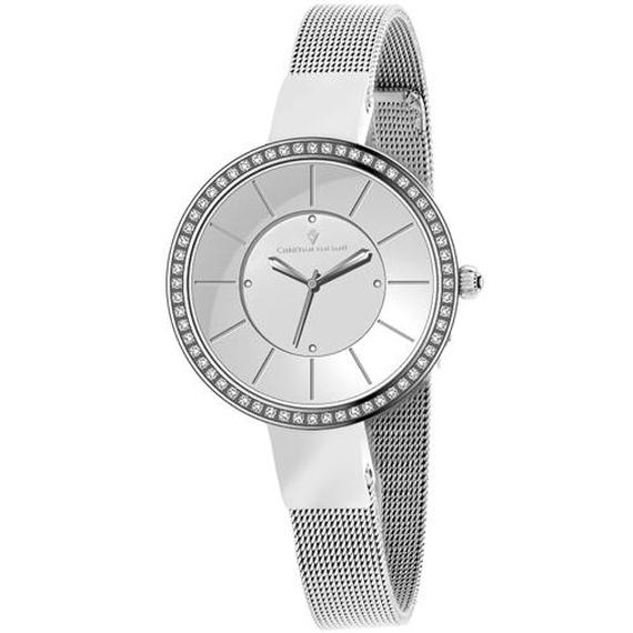 Daily Steals-Christian Van Sant Women's Reign Watch-Jewelry-Stainless Steel Silver Bracelet With Silver Dial-