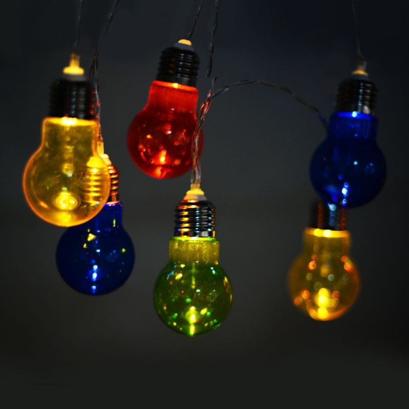 Christmas Colorful Decor LED String Lightbulb Lights, 2 Packs - Opaque and Solid-Daily Steals