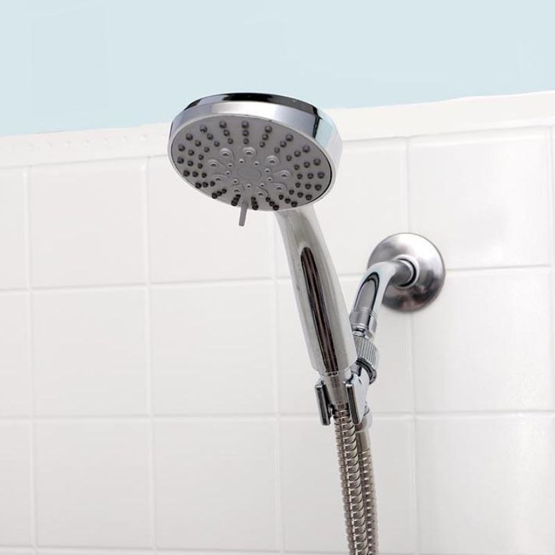 Chrome 5-Function Massaging Shower Head