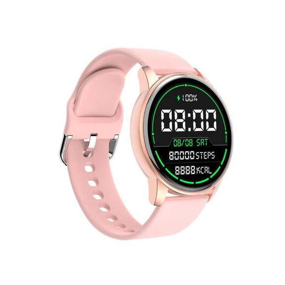 ChronoWatch Water-Resistant Touch Screen Smart Watch-Pink-