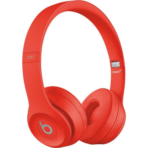 Beats Solo3 Club Collection Wireless On-Ear Headphones-Citrus Red-Daily Steals