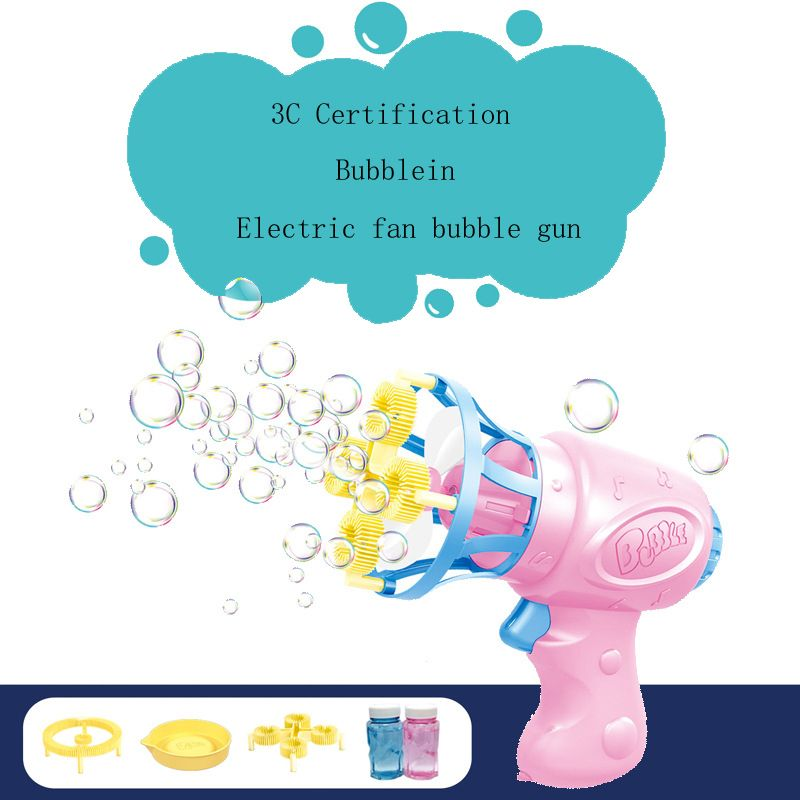 Fan Bubble Machine for Toddlers, Indoor and Outdoor Plus 2 Solutions