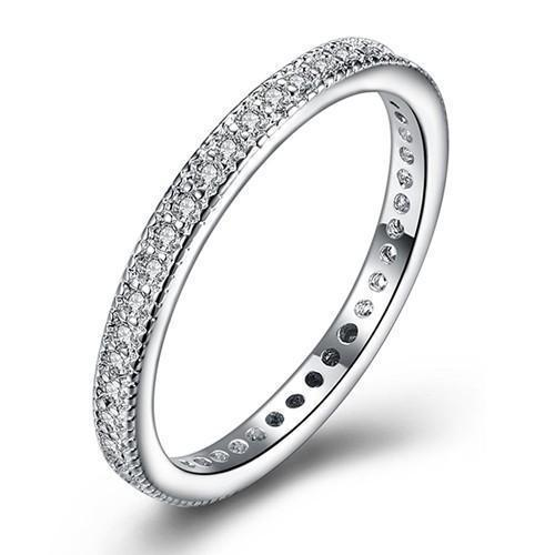 Daily Steals-Classic Eternity Ring - White or Yellow Gold Tone-Jewelry-White-6-