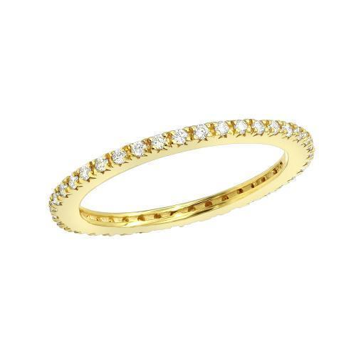 Daily Steals-Classic Eternity Ring - White or Yellow Gold Tone-Jewelry-Yellow-5-