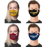 Unisex Football Reusable Fabric Face Masks - 2 Pack-Daily Steals