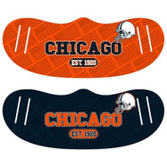 Unisex Football Reusable Fabric Face Masks - 2 Pack-Chicago-Daily Steals