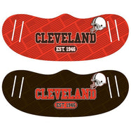 Unisex Football Reusable Fabric Face Masks - 2 Pack-Cleveland-Daily Steals
