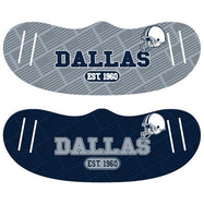 Unisex Football Reusable Fabric Face Masks - 2 Pack-Dallas-Daily Steals