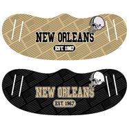 Unisex Football Reusable Fabric Face Masks - 2 Pack-New Orleans-Daily Steals