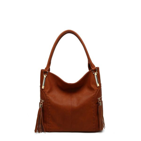 MKF Collection Betsy Shoulder Bag by Mia K. Farrow-Cognac Brown-Classic-Daily Steals