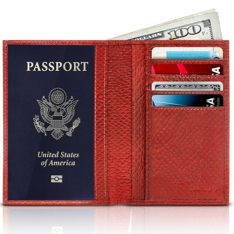 Passport Holder Cover RFID Blocking - Leather Credit Card Organizer-Daily Steals