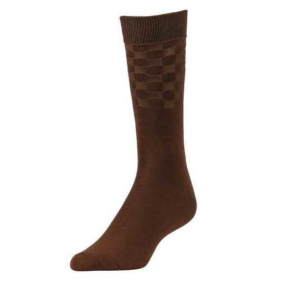 Comfortable Bamboo Dress Mens Socks - 6 Pack-Brown-Daily Steals
