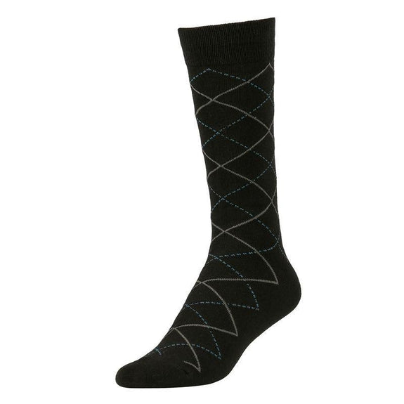 Comfortable Bamboo Dress Mens Socks - 6 Pack-Pattern Black-Daily Steals
