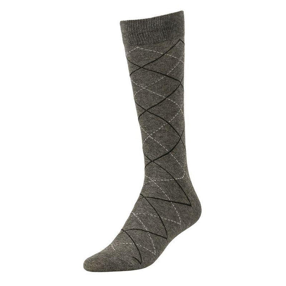 Comfortable Bamboo Dress Mens Socks - 6 Pack-Pattern Charcoal-Daily Steals