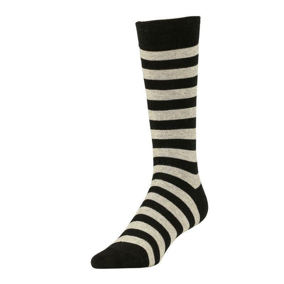 Comfortable Bamboo Dress Mens Socks - 6 Pack-Stripe Grey-Daily Steals