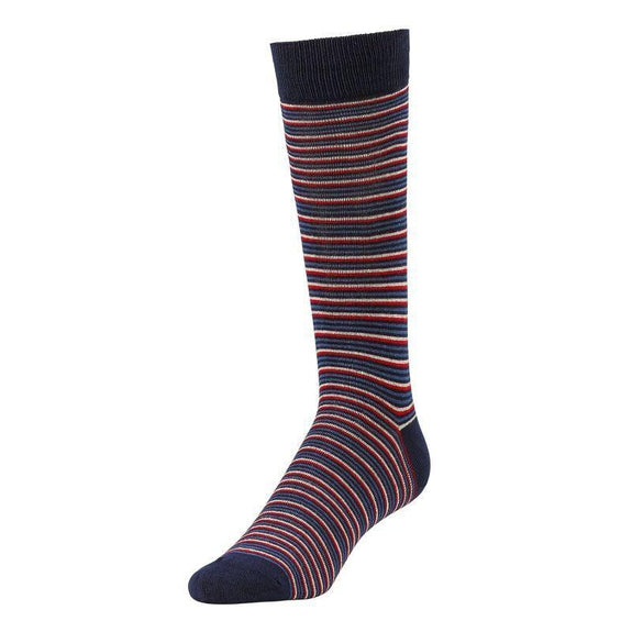 Comfortable Bamboo Dress Mens Socks - 6 Pack-Stripe Navy-Daily Steals