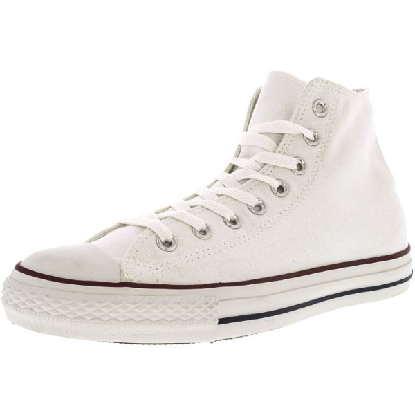 Converse All Star Hi White / Red Blue Ankle-High Sneakers - Adult Unisex Size 12W / 10M-Daily Steals