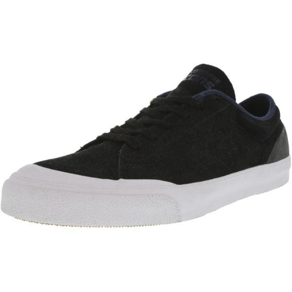 Daily Steals-Converse Cons Sumner Ox Black / Navy Ankle-High Leather Skateboarding Shoes - Adult Unisex Size 13W / 11M-Accessories-