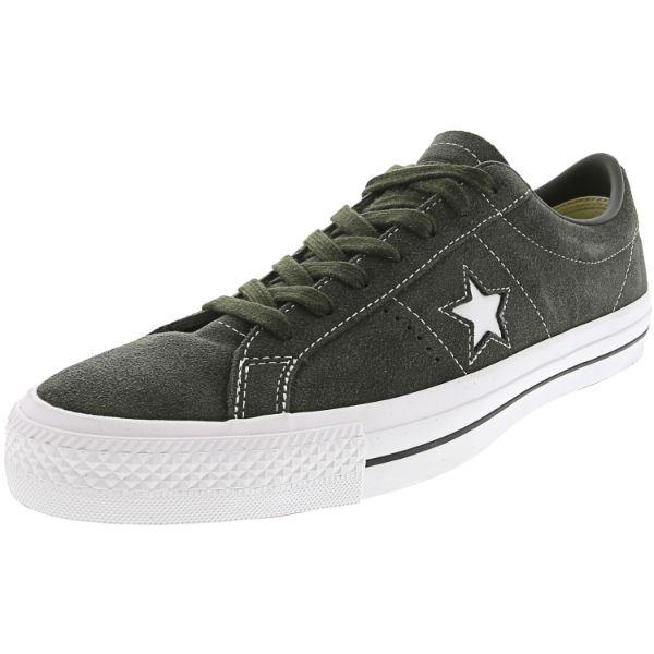 Daily Steals-Converse One Star Pro Ox Sequoia / White Ankle-High Suede Sneakers - Adult Unisex Size 13W / 11M-Accessories-