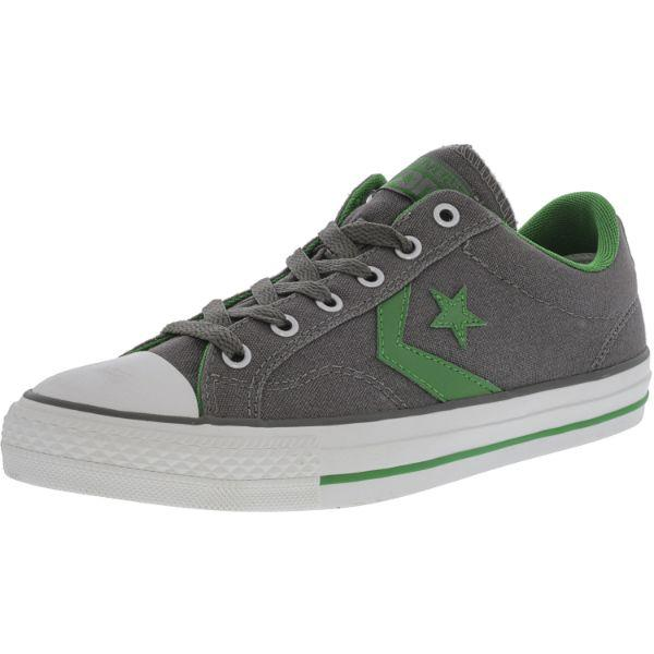 Daily Steals-Converse Star Player Ox Charcoal Gray Ankle-High Canvas Sneakers - Adult Unisex Size 9W / 7M-Accessories-