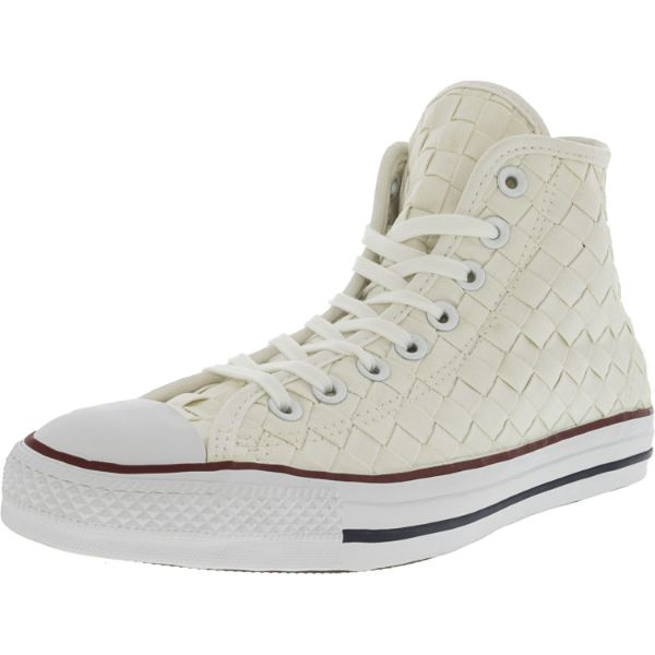 Converse Chuck Taylor All Star Hi Woven White / Red High-Top Sneakers-6.5W/4.5M-Daily Steals