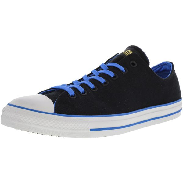 Converse Chuck Taylor All Star Ox Black / Blue Ankle-High Sneakers - Adult Unisex Size 8W / 6M-Daily Steals